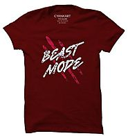 Buy Beast Mode T-Shirt Online in India - Cyankart.com