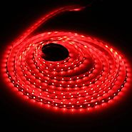 Red LED Strip light, Waterproof LED Flexible Light Strip 12V with 300 SMD 3528 LED, 16.4 Ft / 5 Meter
