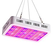 T-SUN Full Spectrum LED Grow light Panel 300W, IP44 Waterproof,Square Hanging Panel Led Light for Greenhouse Indoor P...