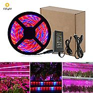 Elflight LED Plant Grow Strip Light(Power Adapter Included),5050 Waterproof Full Spectrum Red Blue 4:1 Growing Lamp A...