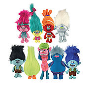 Initiate your own hug time with friends with our adorable collection of Trolls plush toys!