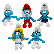Smurfs Origional Plush Toys 40CM Clumsy, Papa Licensed Affordable AU