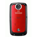GE DVX Waterproof/Shockproof 1080P Pocket Video Camera (Velvet Red) with 2GB SD Card