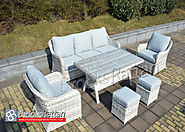 Pearl Clifton 5 Seat Sofa Dining Set