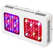 MAXSISUN 320W LED Grow Light 12-band Full Spectrum Veg and Bloom Switches with Secondary Optics Lens for Indoor Plants