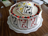 Card Themed 75th Birthday Cake