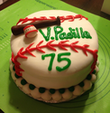Baseball 75th Birthday Cake