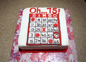 75th Birthday Cake - BIngo Theme