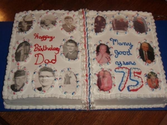 Photo Memories 75th Birthday Cake