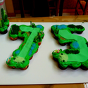 Golf Themed 75th Birthday Cake