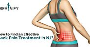 How to Find an Effective Back Pain Treatment in NJ?