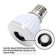 Signstek E27/E26/B22 5W PIR Infrared Sensor Motion Detector LED Light Bulb Warm White