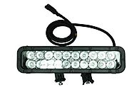 Infrared LED Light Bar - 20 IR LEDs - 60 Watts 750/ 850/ 940/ 1550NM - Extreme Environment - 800'L X(-Spot-850nm-Black)