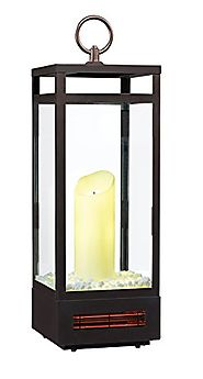 "Duraflame 10ILH120-01 29"" Portable LED Electric Flameless Candle Lantern with Infrared Quartz Heater for Indoor Use, ..."