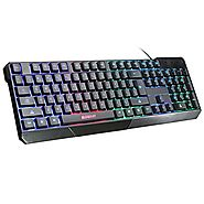 USB Keyboard, ELEGIANT K70 Colorful LED Illuminated Backlit USB Wired Gaming Keyboard for PC Dell Lenovo HP