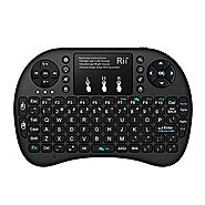 (Updated 2017,Backlit) Rii i8+ 2.4GHz Mini Wireless Keyboard with Touchpad Mouse, LED Backlit, Rechargable Li-ion Bat...