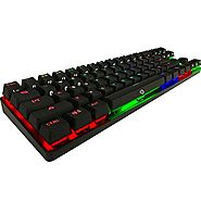 DREVO Calibur 71-Key RGB LED Backlit Wireless Bluetooth 4.0 / Wired Gaming Mechanical Keyboard Black Switch-Black