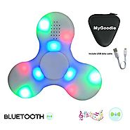 My Goodie LED Light MINI Bluetooth Audio Fidget Hand Spinner Music Speaker,Perfect For ADD,ADHD,Autism and Pressure R...
