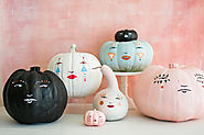 Pastel Pumpkin Faces - The House That Lars Built