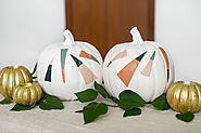 DIY Halloween Pumpkins With Painted Dashes