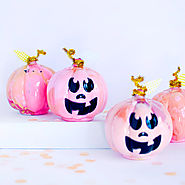 DIY Pink Marbled Pumpkins - Delineate Your Dwelling