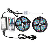 WenTop Led Strip Light Kit Waterproof SMD 3528 32.8Ft(10M) 600leds Led Tape Light Dimmable with DC12v Power Supply an...