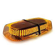 Xprite Amber 240 LED Roof Top Mini Bar, Truck Car Vehicle Law Enforcement Emergency Hazard Beacon Caution Warning Sno...