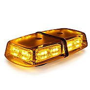 Xprite Gen 3 Amber Yellow 36 LED 18 Watts High Intensity Law Enforcement Emergency Hazard Warning LED Mini Bar Strobe...
