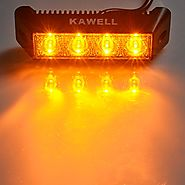 "KAWELL® 12W 5.5"" DC 9-32V 3000K 800LM 60 Degree LED Amber Light for ATV/Jeep/boat/suv/truck/car/4x4 Amber LED Flood b..."