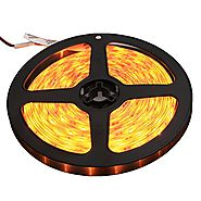 XKTTSUEERCRR Waterproof LED 3528 SMD 300LED 5M Flexible Light Strip 12V 2A 24W 60LED/M (Yellow)