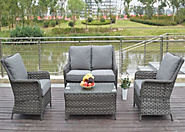 Serena 4 Seat 4 Piece High Back Sofa Set