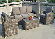 Serena Madrid 5 Seat 4 Piece Sofa Set