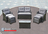 Serena 4 Seat 6 Piece Button Back Sofa Set