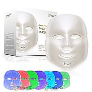 Project E Beauty 7 Color LED Mask Photon Light Skin Rejuvenation Whitening Facial Beauty Daily Skin Care Mask