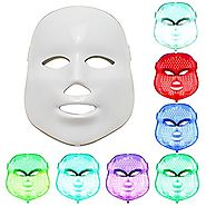 NEWEST LED Photon Therapy 7 Colors ( Red Blue Green )Light Treatment Facial Beauty Skin Care Rejuvenation Pototherapy...