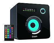 ION Audio Flash Cube | Wired Bluetooth Speaker with Multicolored LED Ambient Lighting (Single)