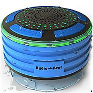 Shower Radios - Hydro-Beat Illumination. IPX7 portable fully Waterproof Bluetooth Speaker with built in FM Radio and ...