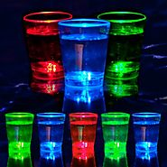 Liquid Activated Flashing Shot Glasses: Multicolor (8-Pack)