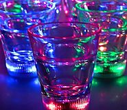 Light Up Multicolor LED Shot Glass Lite Cubes(Quantity=3)