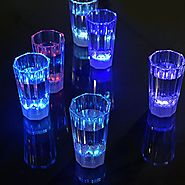 Maison Maxx Liquid Activated Multicolor LED 1.7oz Shot Glasses, Set of 6