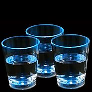 Fun Central G228 LED Liquid Activated Shot Glasses Blue