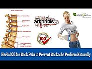 Herbal Oil for Back Pain to Prevent Backache Problem Naturally