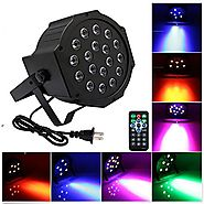 18 LED Par Lights for Stage Lighting with Remote 4 in 1 RGB Poweful PAR 64 Stage lamp for DJ Club Wedding Family Part...