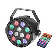 GBGS Par Uplights Party 12 Led Stage Stand DJ Lighting with Remote Control RGBW DMX512 Mixing Color Washing Can 8CH f...