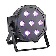 GBGS LED Up Lighting RGBW LED Par Lights 10W x 7 LED DMX 4-in-1 Par Can Stage Lighting Super Bright for Wedding DJ Ev...