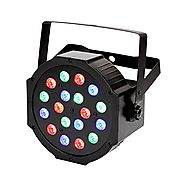 TSSS RGB PAR Light 18 LEDs DMX512 Color Mixing Wash Can Stage Light Disco DJ Wedding Party Show Live Concert Lighting