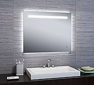 "KARLA 24""x30"" LED Backlit Illuminated Mirror Horizontal/Vertical for Bathroom Vanity Makeup Mirror"