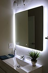 "Windbay Backlit Led Light Bathroom Vanity Sink Mirror. Illuminated Mirror. (36"")"