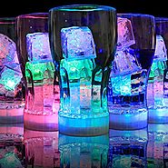 12Pcs Colorful LED Liquid Sensing Ice Cube Flashing Lights for Dinner Wine Drinking Bar Club Wedding Party (12)