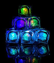 Fun Central AC971 LED Light Up Blinky Ice Cubes, Light Up Ice Cubes, Ice Cubes Light Up, Blinkies, Glowing Ice Cubes,...